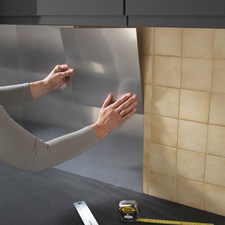 credence cuisine a coller castorama. Black Bedroom Furniture Sets. Home Design Ideas