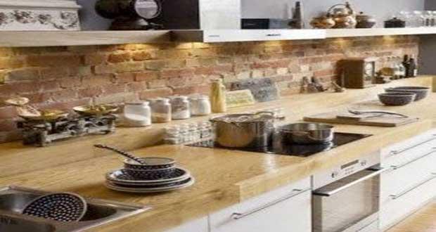 credence cuisine brique