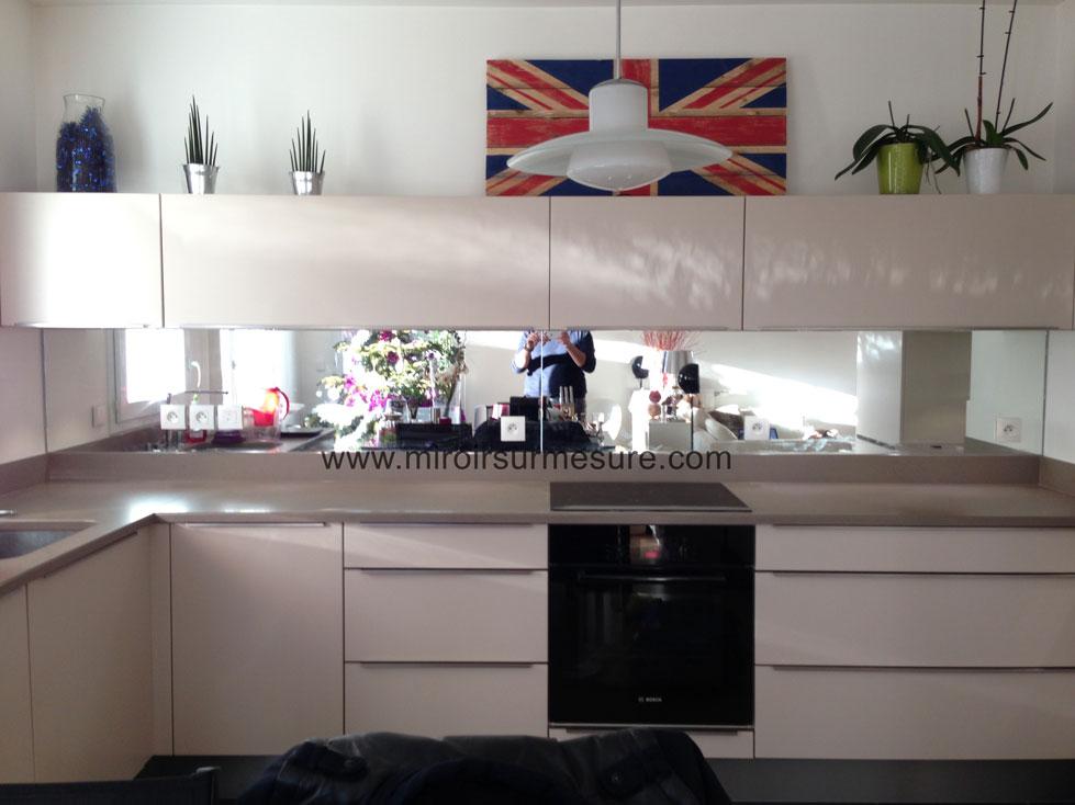credence cuisine en miroir
