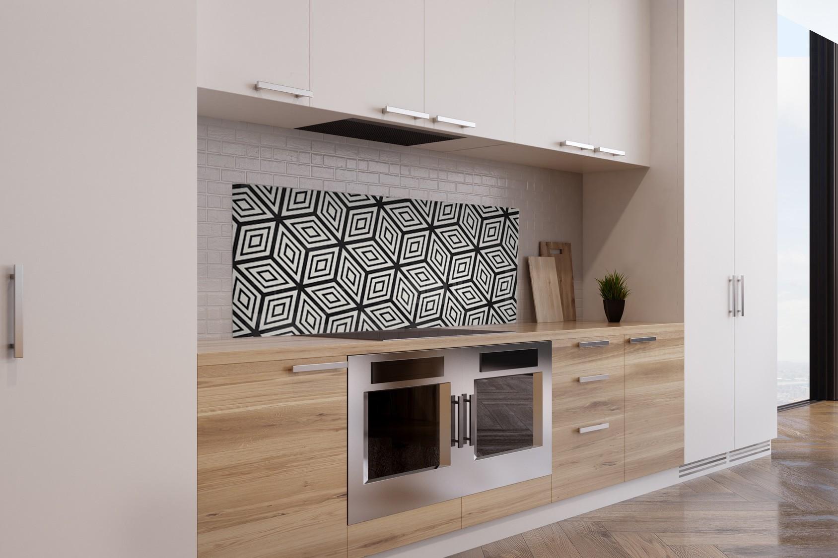 credence cuisine geometrique