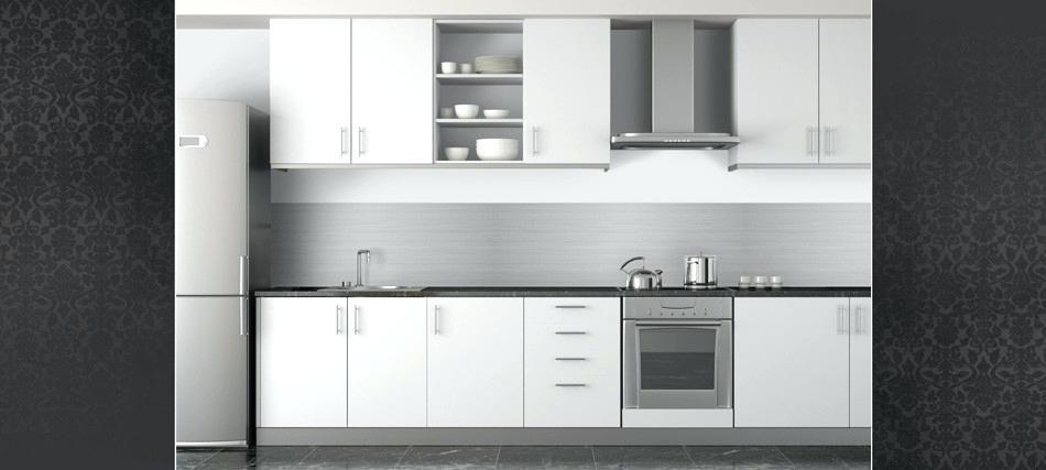 credence cuisine inox ou alu. Black Bedroom Furniture Sets. Home Design Ideas