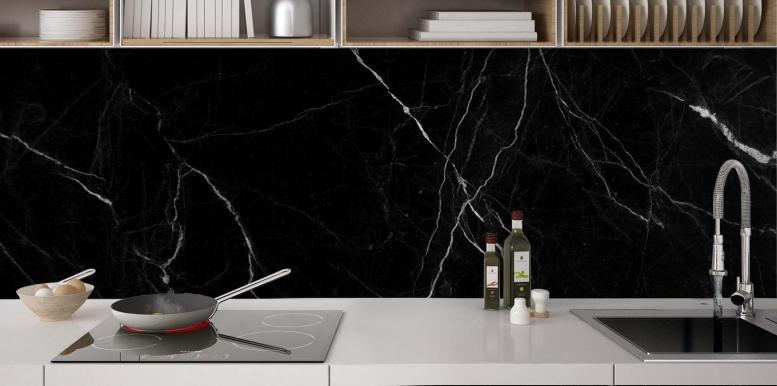 credence cuisine marbre noir. Black Bedroom Furniture Sets. Home Design Ideas