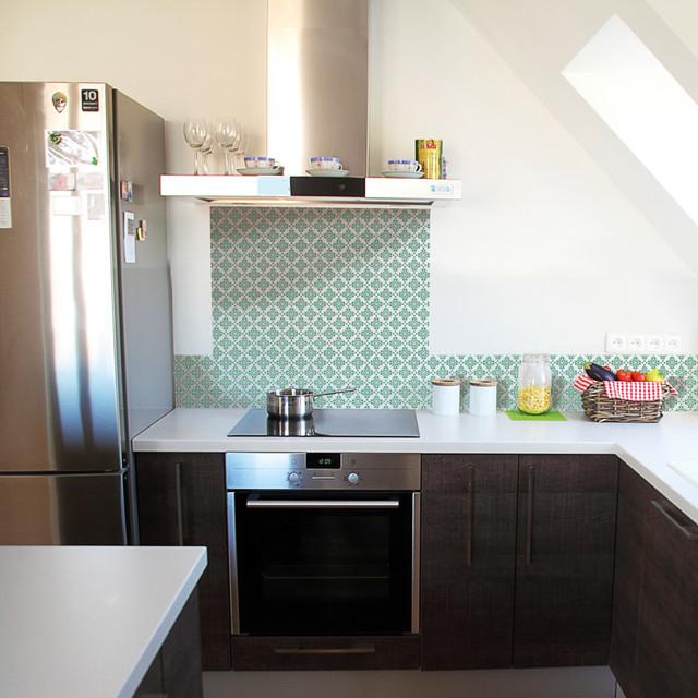 credence cuisine vert d 39 eau. Black Bedroom Furniture Sets. Home Design Ideas
