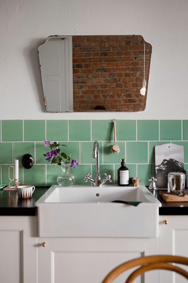 credence cuisine vert d'eau