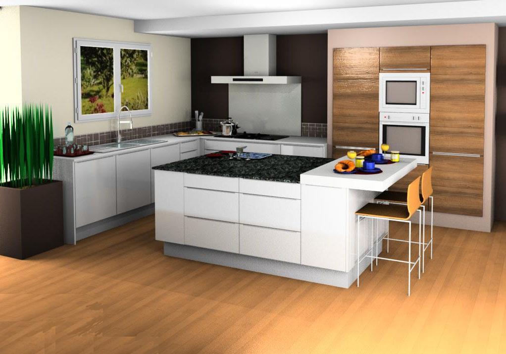 ilot cuisine 3d