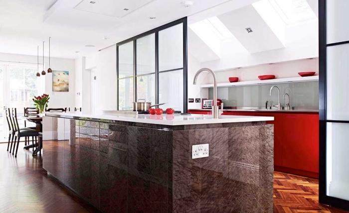 ilot cuisine avec verriere. Black Bedroom Furniture Sets. Home Design Ideas