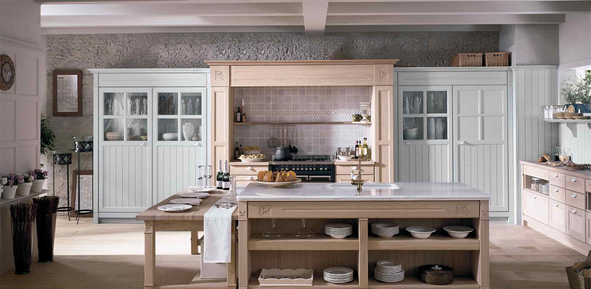 ilot cuisine bois rustique