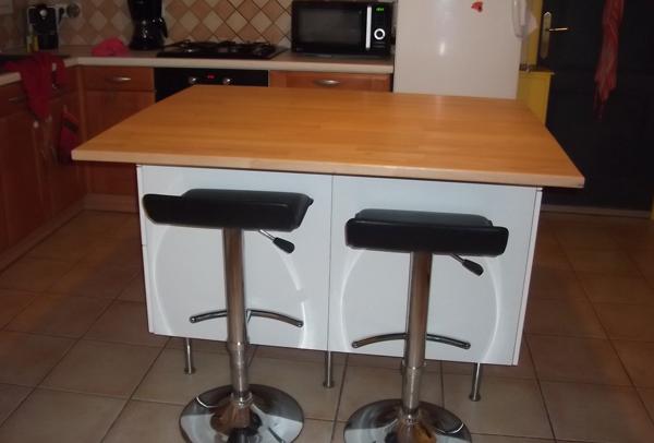Ilot cuisine construire Fabriquer table cuisine