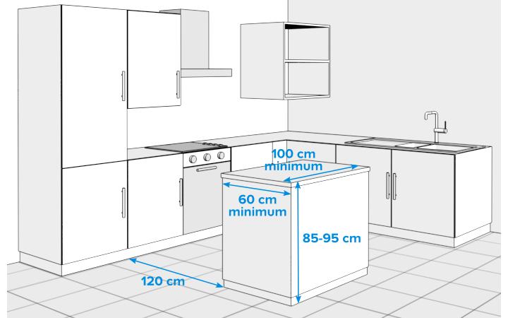 Ilot cuisine espace for Ilot central cuisine castorama