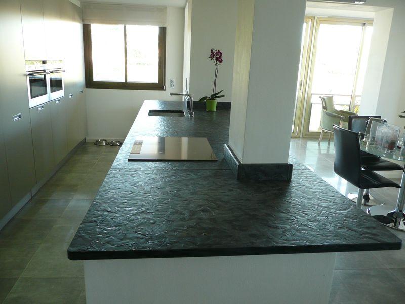 ilot cuisine granit