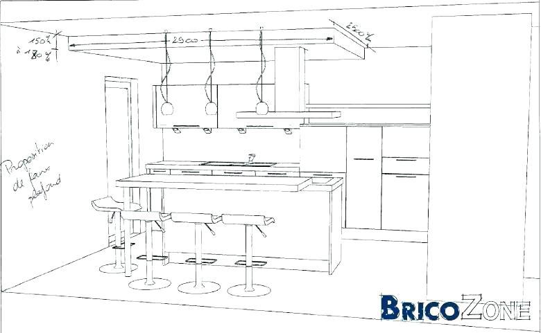 Ilot cuisine hauteur standard - Dimensions plan de travail cuisine ...