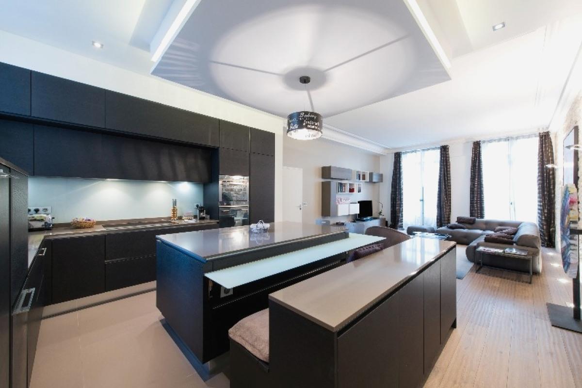 ilot cuisine ouverte sur salon