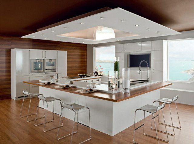 ilot cuisine rectangle
