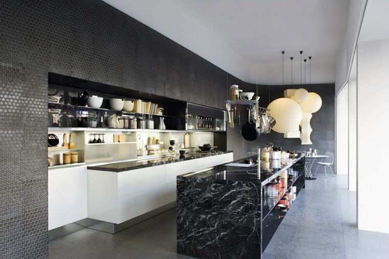 ilot cuisine rectangulaire