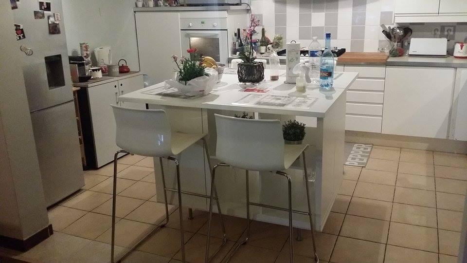 ilot cuisine table a manger ikea
