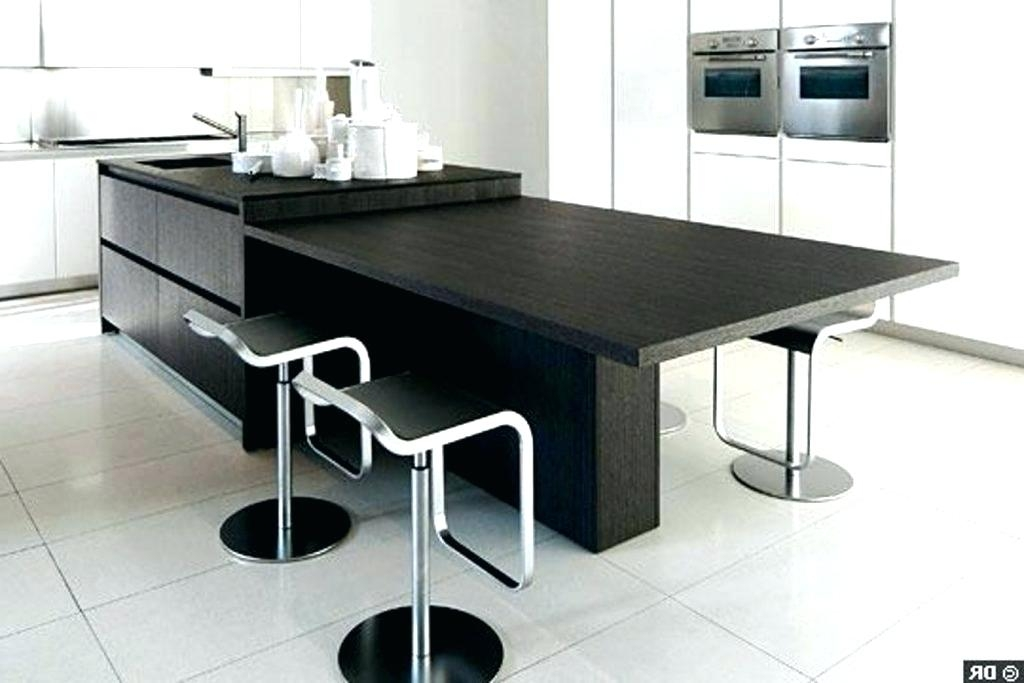 ilot cuisine table escamotable