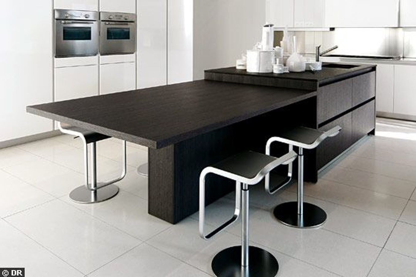 ilot cuisine table extensible. Black Bedroom Furniture Sets. Home Design Ideas