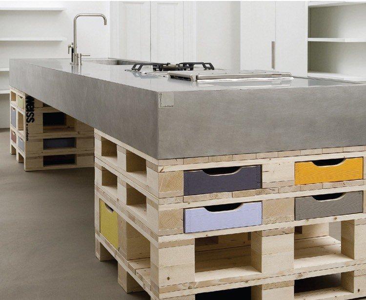 ilot cuisine tiroir