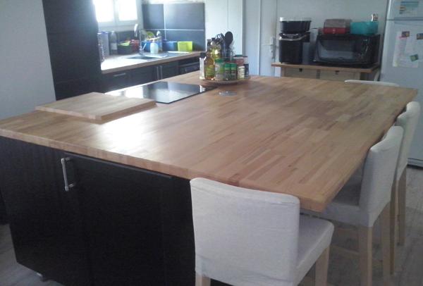 plan de travail cuisine 2 m