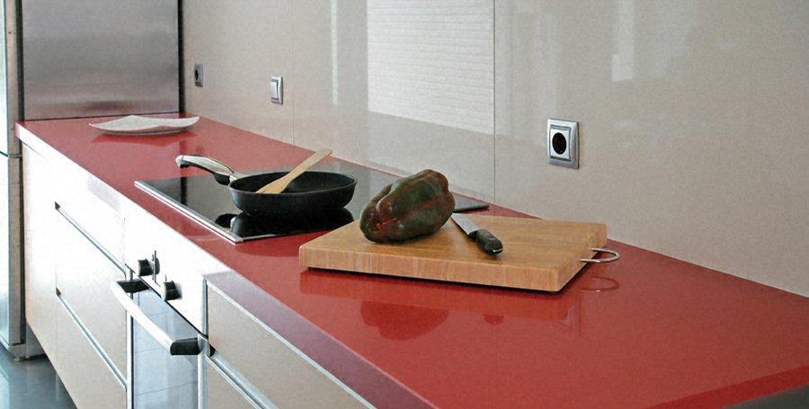 plan de travail cuisine couleur