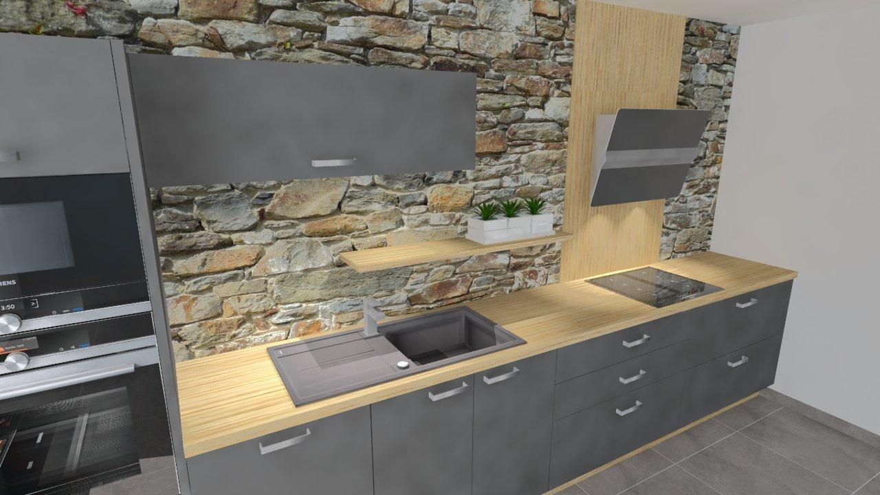 plan de travail cuisine de 4m