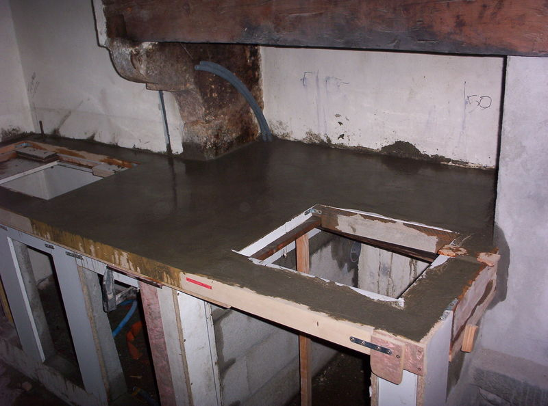 plan de travail cuisine en beton arme
