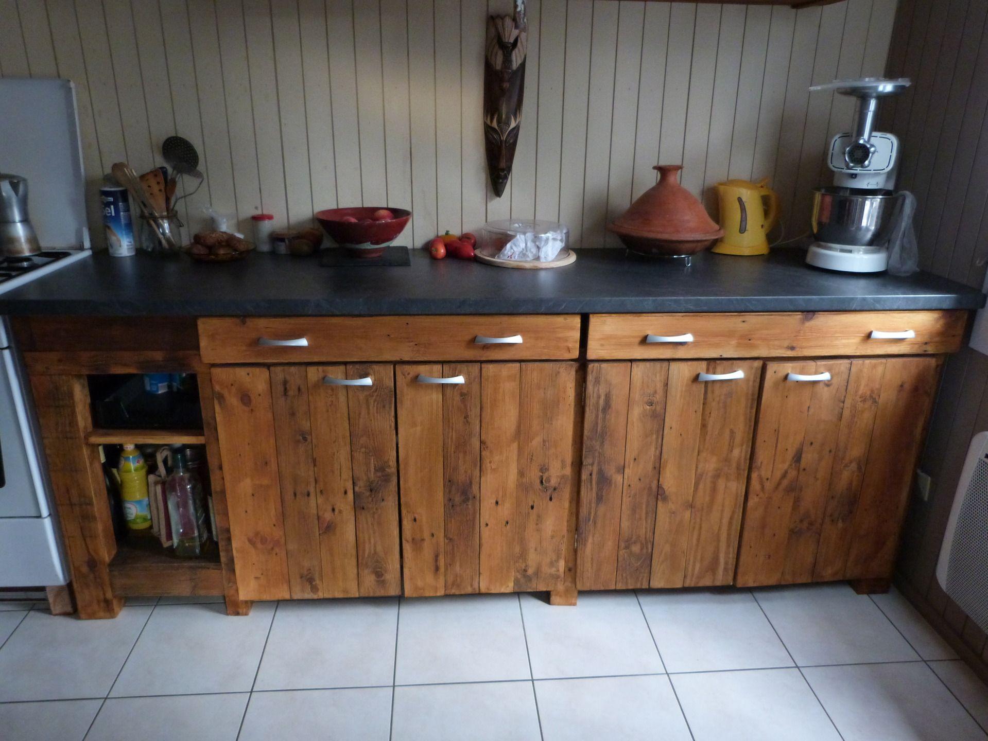 plan de travail cuisine en palette