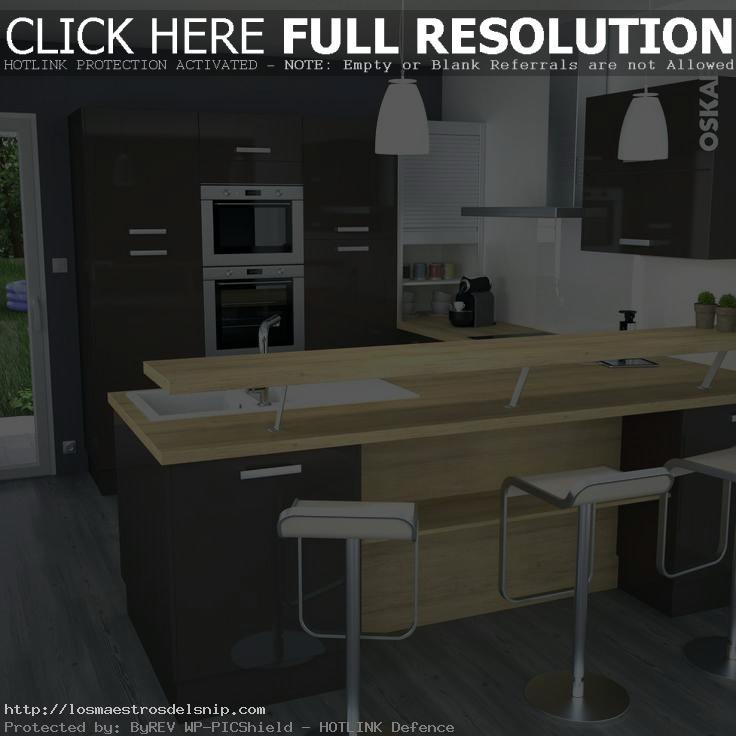 plan de travail cuisine et bar