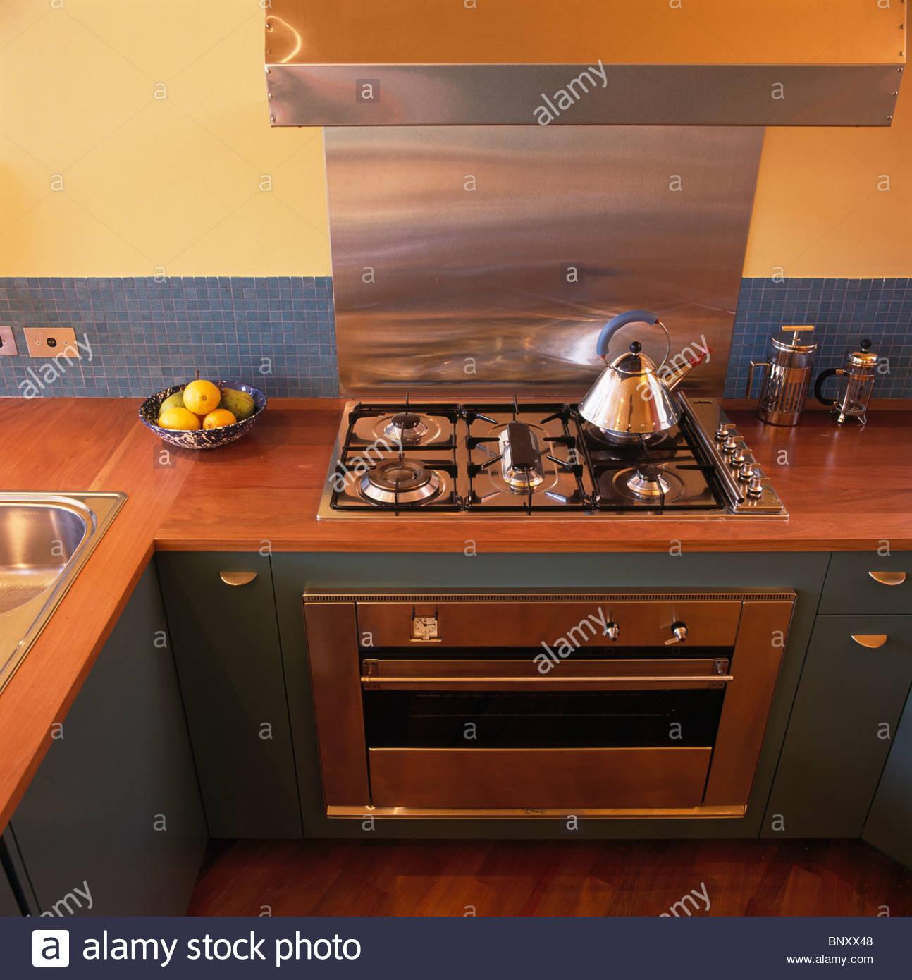 plan de travail cuisine jaune