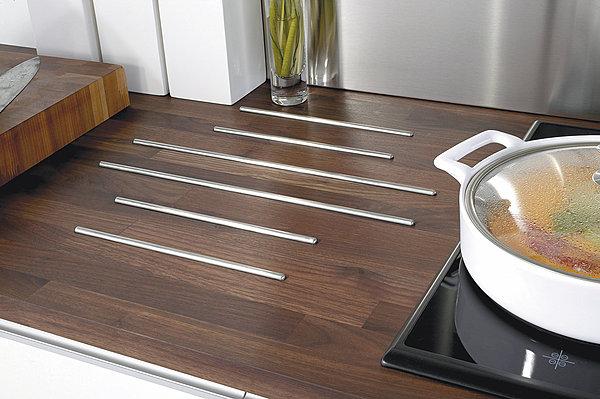 plan de travail cuisine noyer lamelle