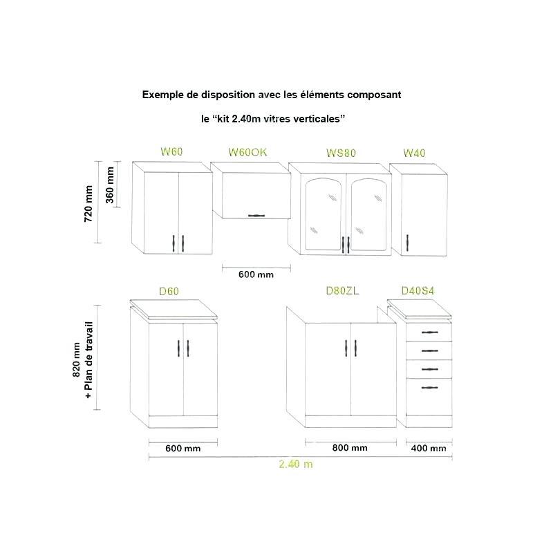 plan de travail cuisine profondeur 40 cm