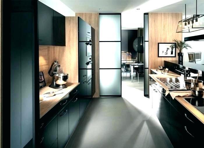 credence cuisine bois et noir