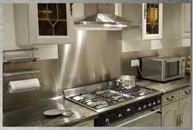 credence cuisine inox brosse