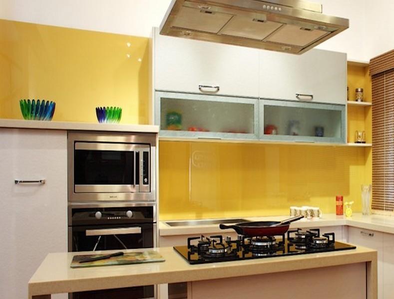 credence cuisine jaune