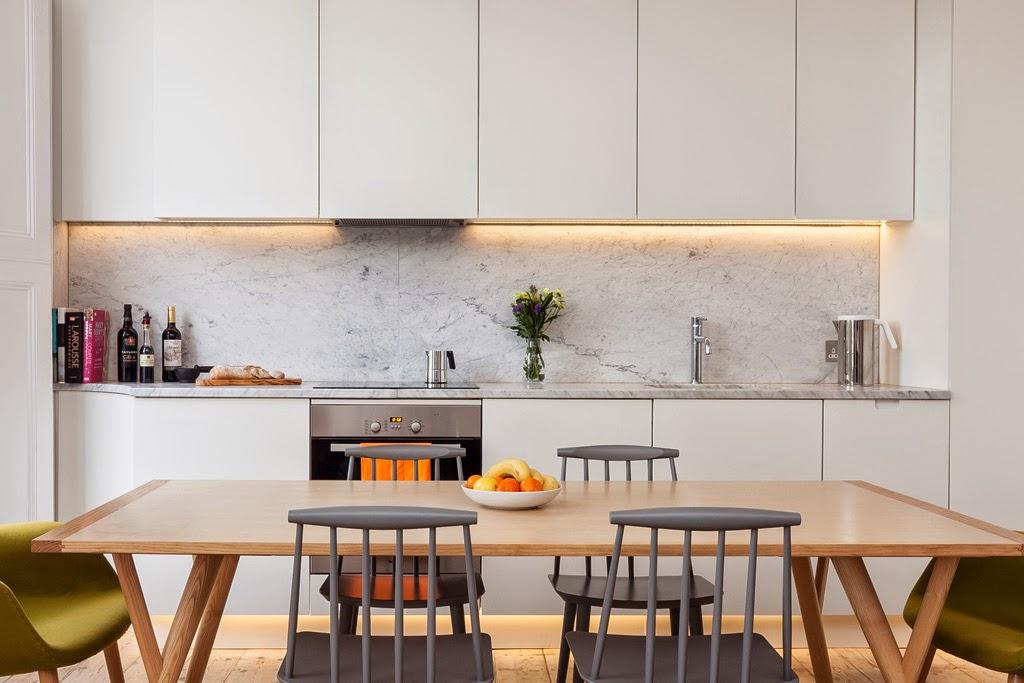 credence cuisine marbre blanc