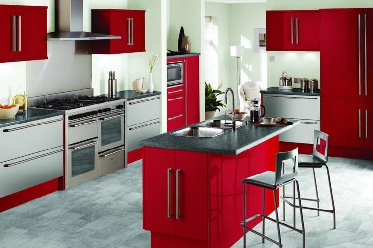 ilot cuisine rouge