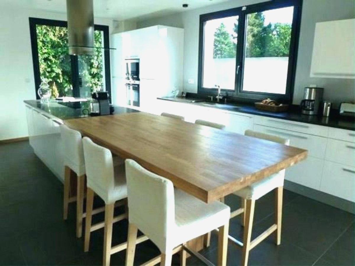 ilot cuisine table haute