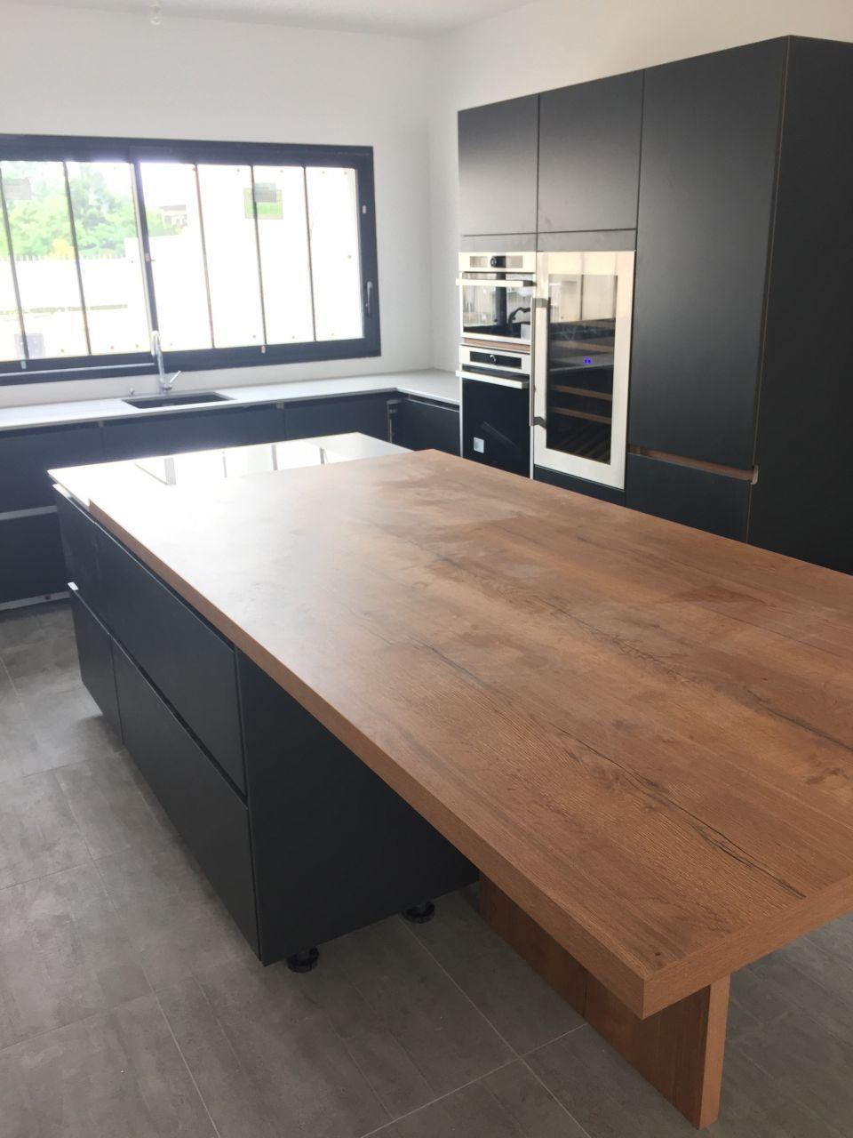 plan de travail cuisine 4m