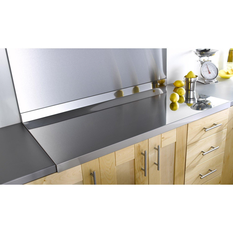 plan de travail cuisine aluminium