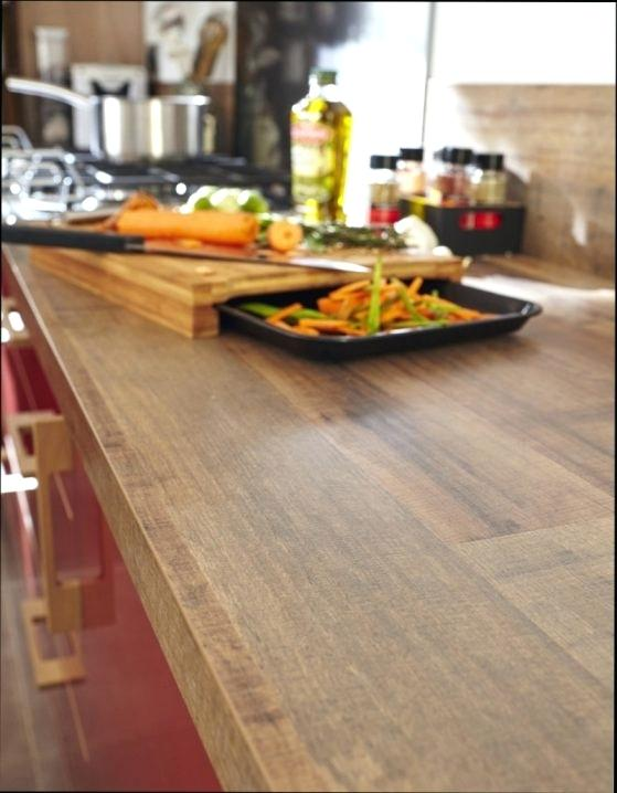 plan de travail cuisine imitation bois