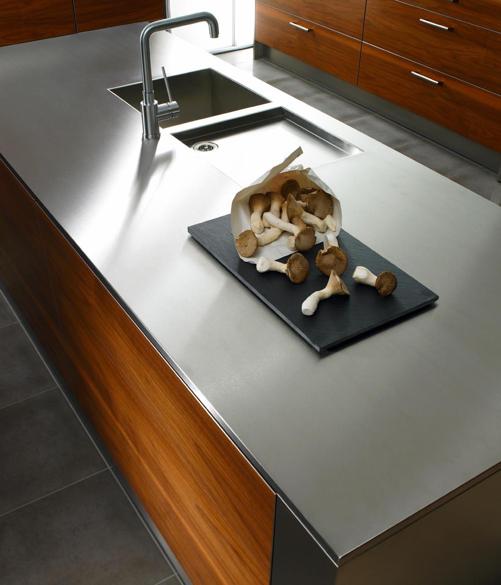 plan de travail cuisine inox sur mesure