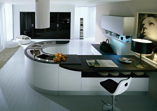 plan de travail cuisine ovale